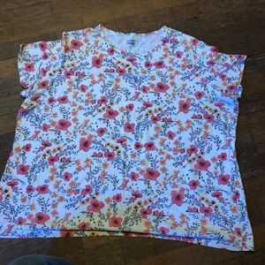 Basic Editions floral shirt